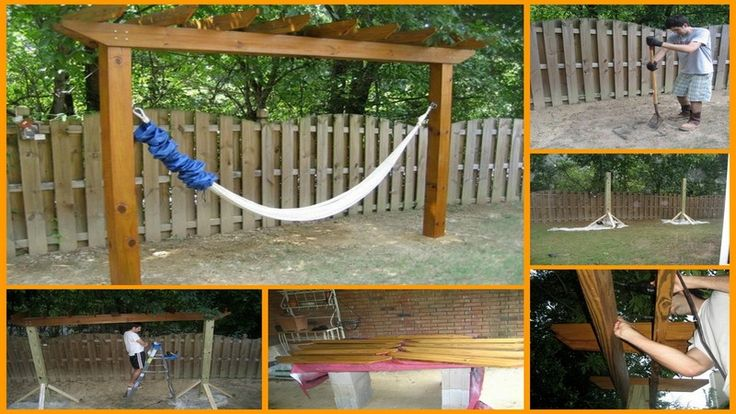 Need a hammock but don 39 t have trees to hang it on then for Build your own tree stand