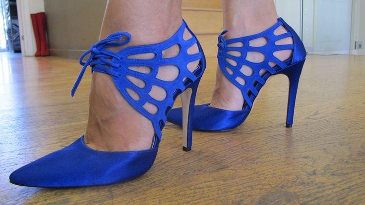 Μπλε νυφικα παπουτσια