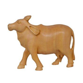Amazon.com: Handcrafted Wooden Cow Figurine Home Decoration: Home & Kitchen