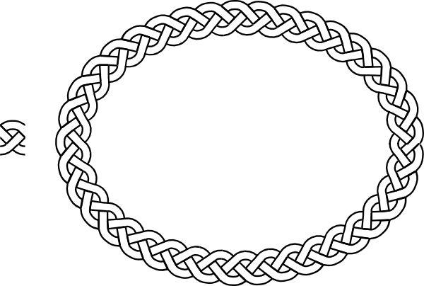 clip art borders   plait Border Oval clip art - vector clip art online, royalty free ...