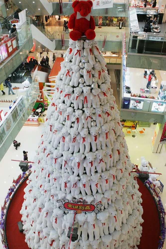 Teddy Bear Tree  Located at a shopping center in Beijing, China.    (Getty)
