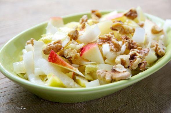 Belgian Endive, Apple, Pineapple and Walnut Salad