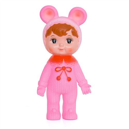 Sister pink woodland doll with ears