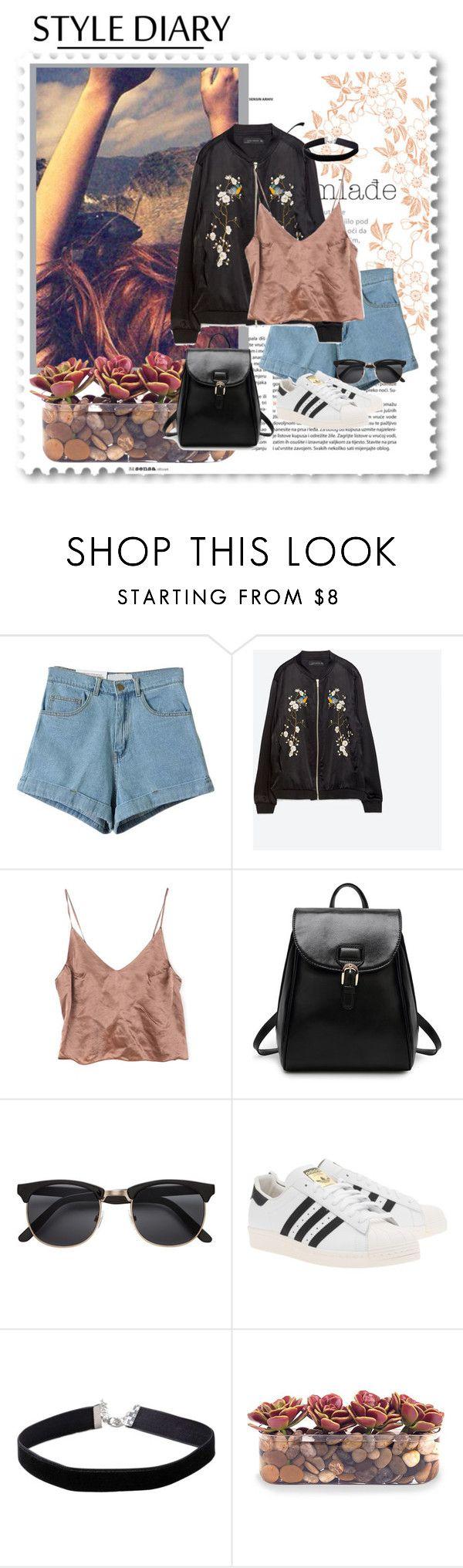 """Style Diary: Roadtrip"" by blondeshoopaholic on Polyvore featuring moda, Zara, adidas Originals, Miss Selfridge e John-Richard"