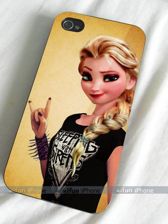 disney frozen elsa punk love sleeping with sirens  by ifuniphone, $14.00 i want..i want.. i want!!!!!!