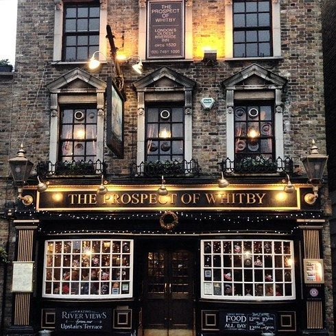 Wapping, London. The Prospect of Whitby, London's infamous pirate pub. Waterfront. great outdoor space and a hangman's noose out back.