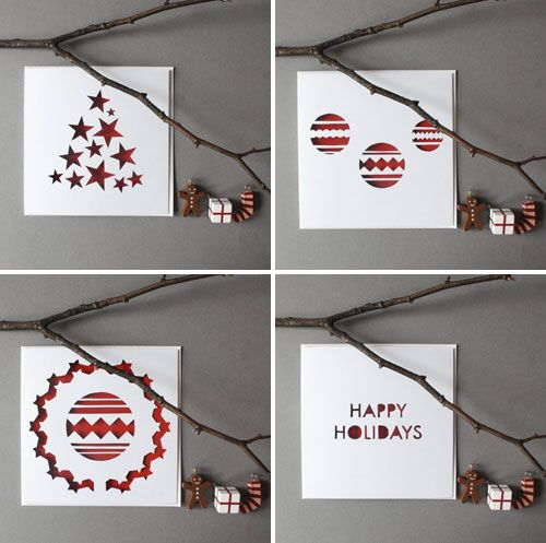 Christmas Card Designs- Papercut designs