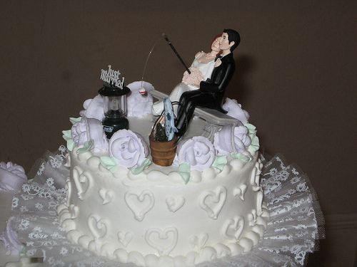 how to make a wedding cake topper with flowers fishing unique cake toppers wedding 15901