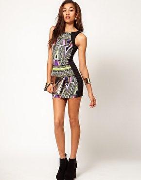 River Island Aztec Body Con Dress at asos.com -- @Claire Duna do you like this?