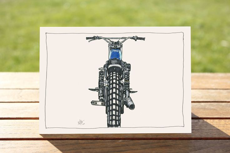 "Motorcycle Gift Card - ""Back It Up"" Harley Davidson Portrait 