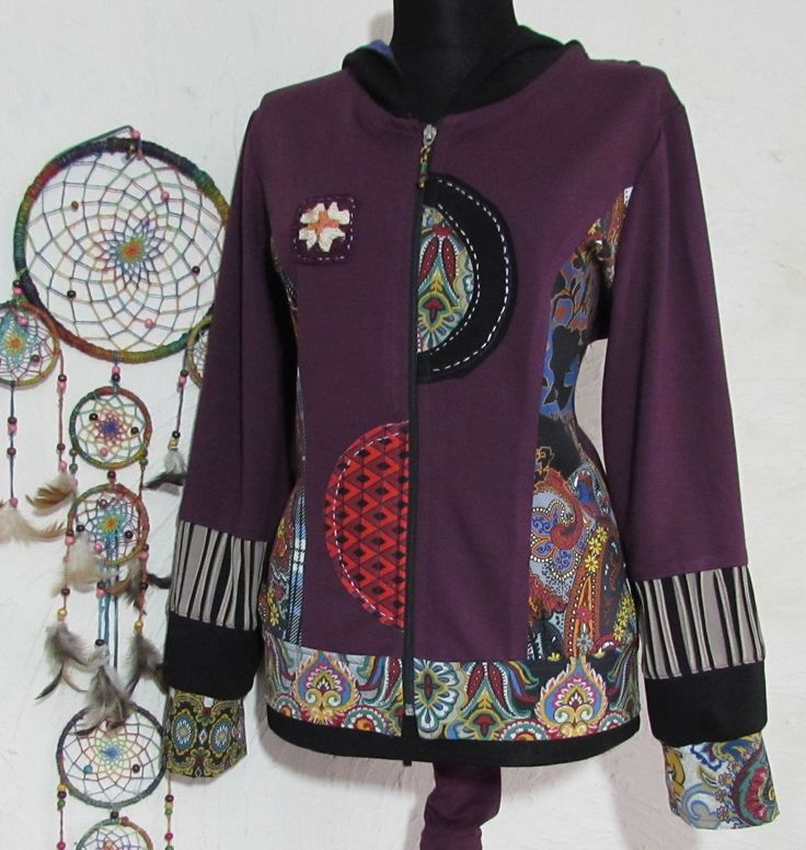 patchwork short hoodie