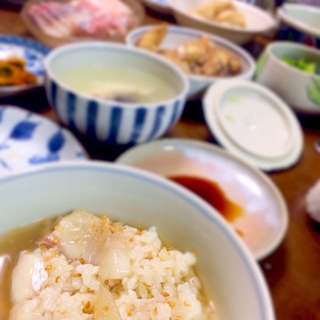 毎年恒例 長崎から送ってくる魚で 年末のご馳走ヾ(´▽`*)ゝ - 0件のもぐもぐ - 鯛茶漬け by tomomihiraJor