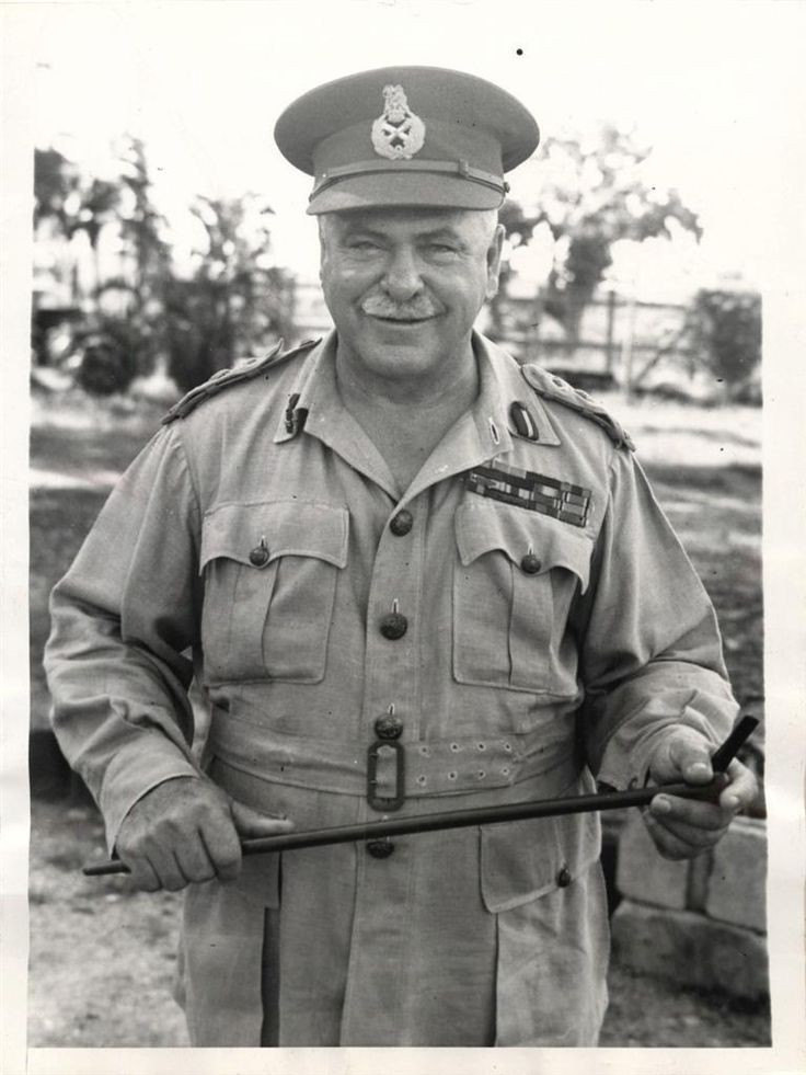 1945- General Sir Thomas Blamey, commanding general of Australian land forces, shown in Manila awaiting orders to leave for the formal Japanese surrender ceremonies.