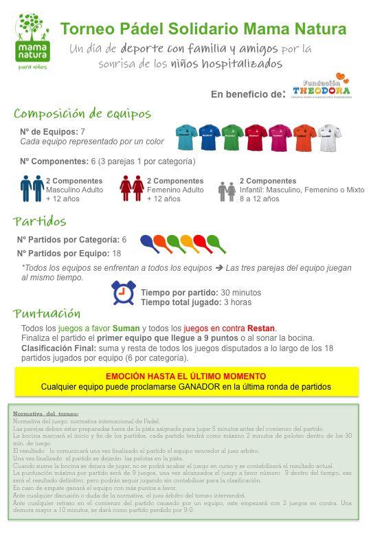 Bases Torneo Solidario Mama Natura http://www.mamanatura-solidaria.es/bases.php