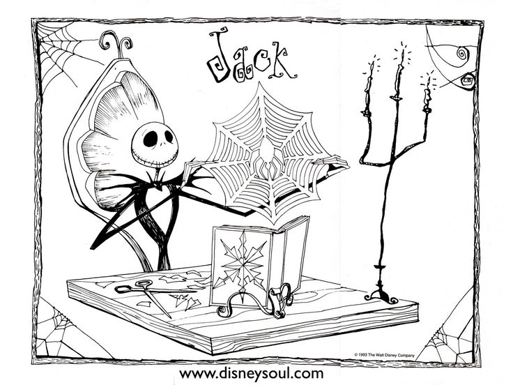 Christmas coloring pages nightmare before christmas and nightmare