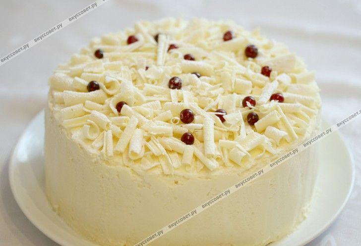 Торт `Снежный` пошаговый рецепт с фото