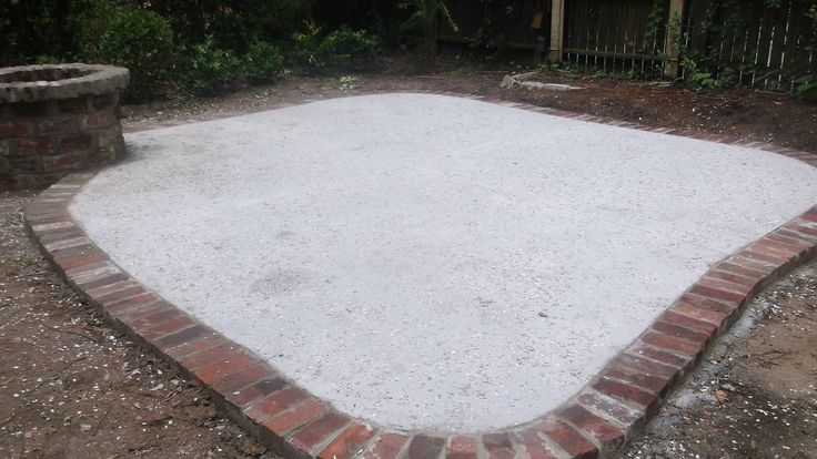 14 best images about driveway on pinterest charleston sc for Fire pit on concrete slab