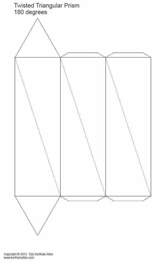 desarrollo plano de unprisma triangular torcido