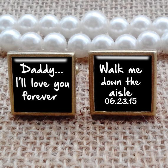 Daddy i love you   Bronze Square cufflinks by cufflinkworlds