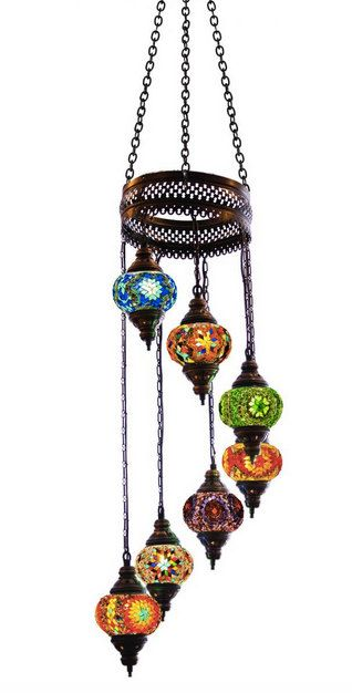 7 ball Arabian Mosaic Lamps, Moroccan Lantern, Chandelier,Turkish Light, Hanging Lamp, Mosaic lighting,mosaic lamp by BeautyofTurkey on Etsy