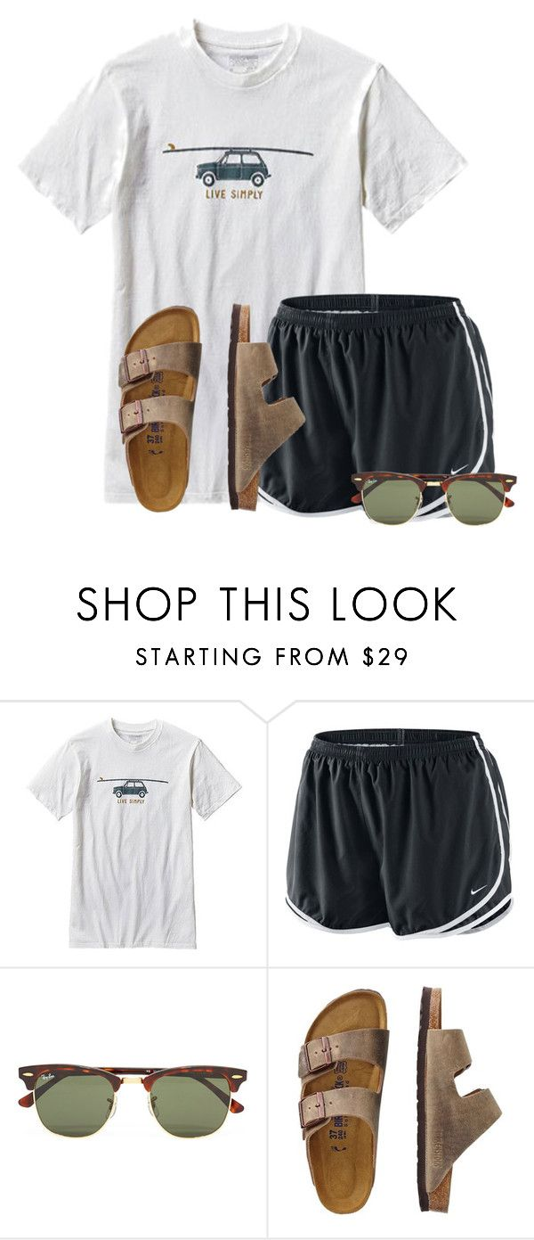 """We're all in this together:)"" by flroasburn ❤ liked on Polyvore featuring Patagonia, NIKE, Ray-Ban and TravelSmith"
