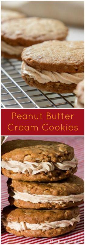 Peanut butter cream cookies