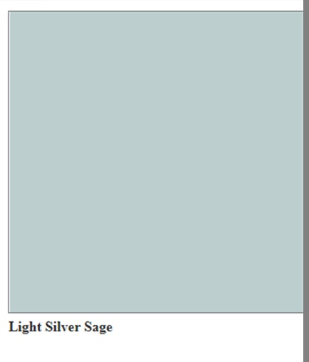 Light Silver Sage, wall color.