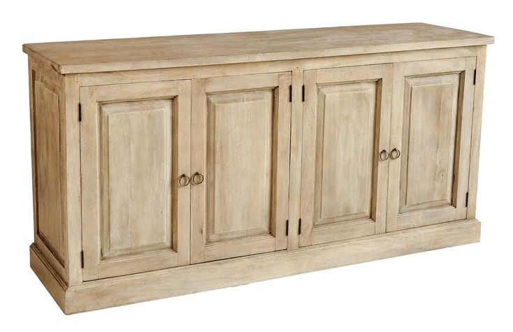 Compact and versatile this buffet is hand crafted from solid tropical hardwood. This piece can be used for many purposes, including a buffet, storage for toys and games, a media console or hall table.