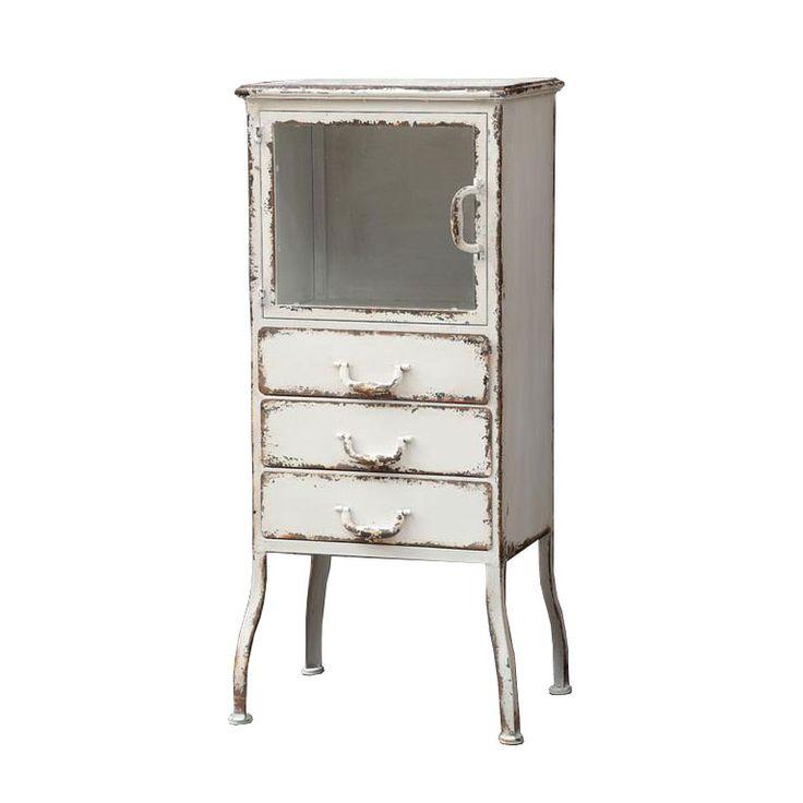Distressed Metal Cabinet | dotandbo.com