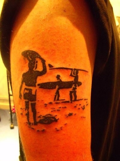 Interesting if only it was a surfer girl instead ink for Endless summer tattoo