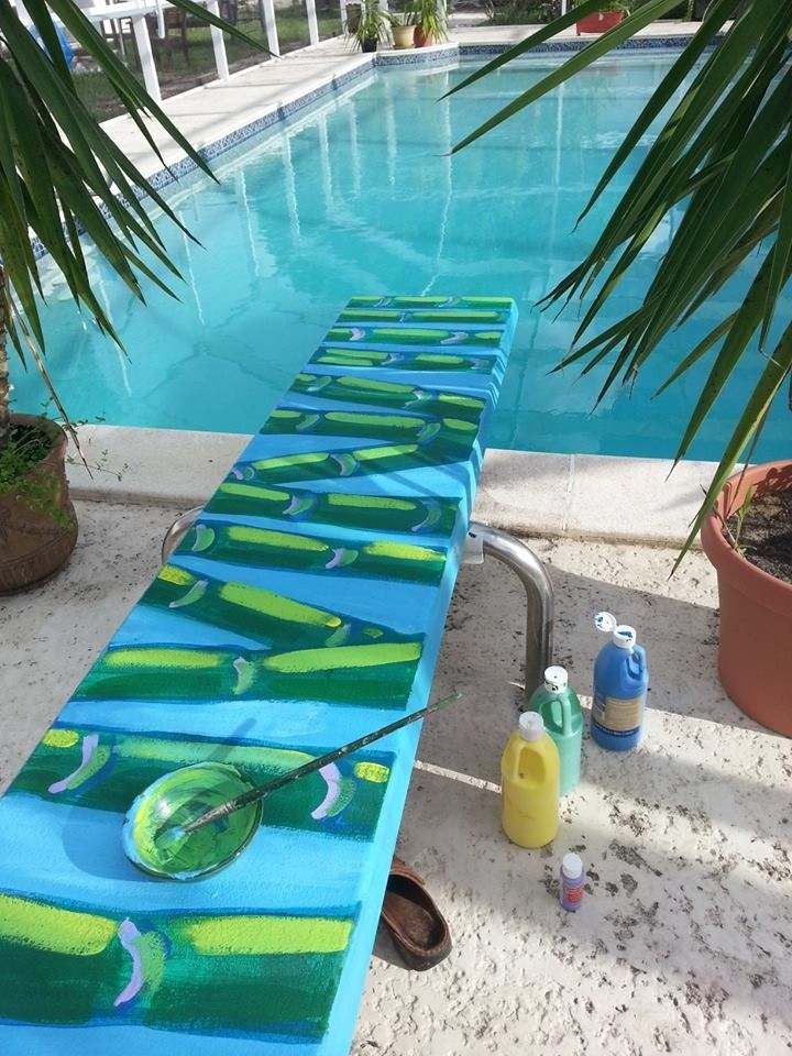 Painted diving board tips tricks pinterest diving for Swimming pool diving board tricks