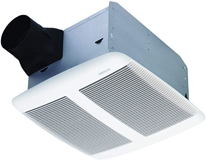 Broan Sensonic Bathroom Exhaust Fan With Bluetooth Speaker Energy Star Certified 1 0 Sones 110 Cfm White Ceiling Exhaust Fan Bathroom Exhaust Exhaust Fan