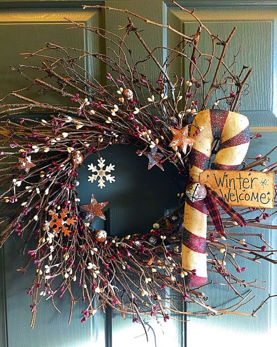 Christmas wreath  primitive Christmas wreath  by StrictlyPrimitive