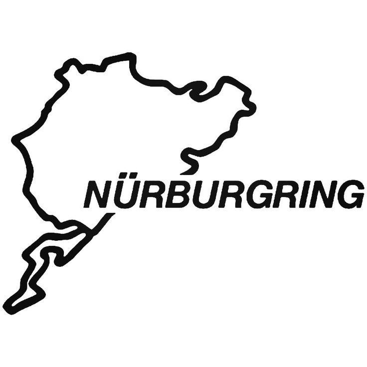 Nuburgring Germany Race Track 1 Vinyl Decal Sticker  BallzBeatz . com