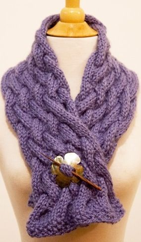 Free #knitting pattern - cable scarf - from Ravelry -