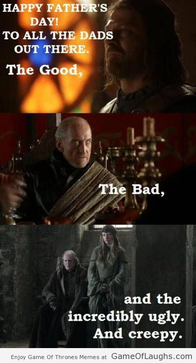 game of thrones fathers day card