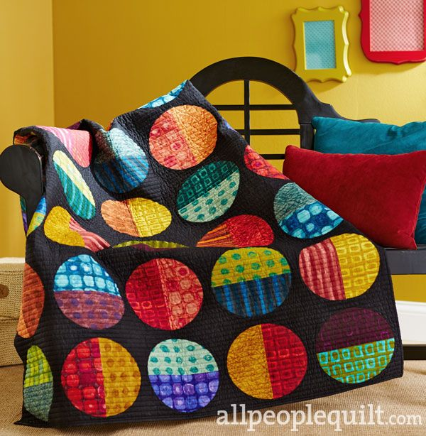 HOT QUILT ALERT: Kim Schaefer's Play with Marbles quilt is featured in the Summer 2014 issue of Quilts and More magazine, and uses her gorgeous Hand Dyes collection.   Click on the picture to see this quilt and others.