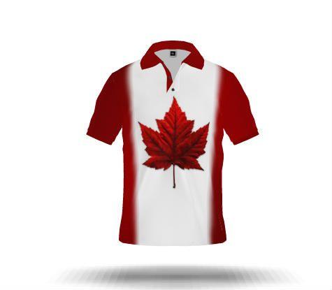NEW My Canada Flag Polo Shirts Maple Leaf Sportswear