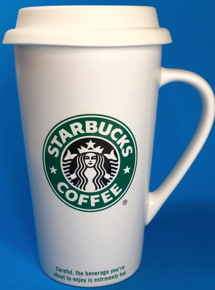 Starbucks Coffee Travel Mug Cup Tall White Ceramic Mermaid