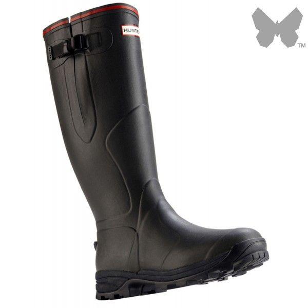 Hunter Balmoral Neoprene 3mm Wellington Boots - Dark Olive - Hunter - Our Brands | Country Attire