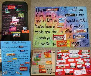 Who wouldn't love a candy bar poster or card? Not only are candy bar gift cards amusing, they're also yummy. For some reason candy and a note really does say a lot and make great gifts.