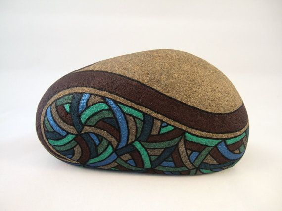 OOAK Hand Painted Rock, Signed Numbered, Unique 3D Abstract Art Object, Collectibles, Gift for Him or Her, Home and Office Decor Artwork