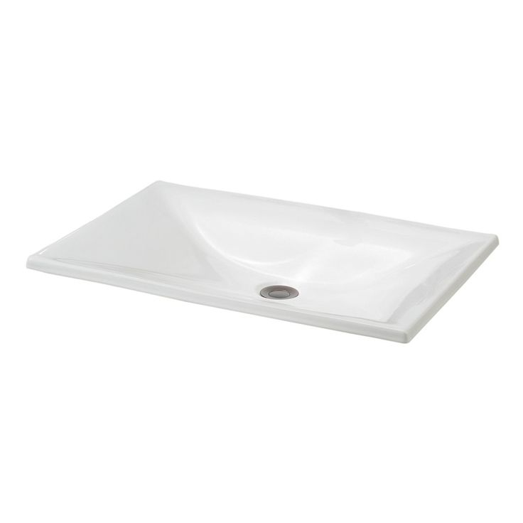 Shop Cheviot 1180 Estoril Drop In Basin Self Rimming Bathroom Sink At Lowe S Canada Find Our Selection Of Drop In Bathroom Sinks At The Lowest Price