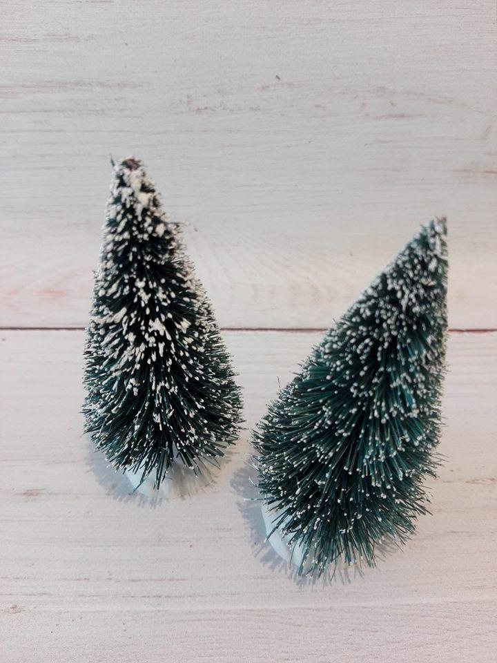 Karácsonyi újdonságok : Kicsi fenyő szett 2 db-os
