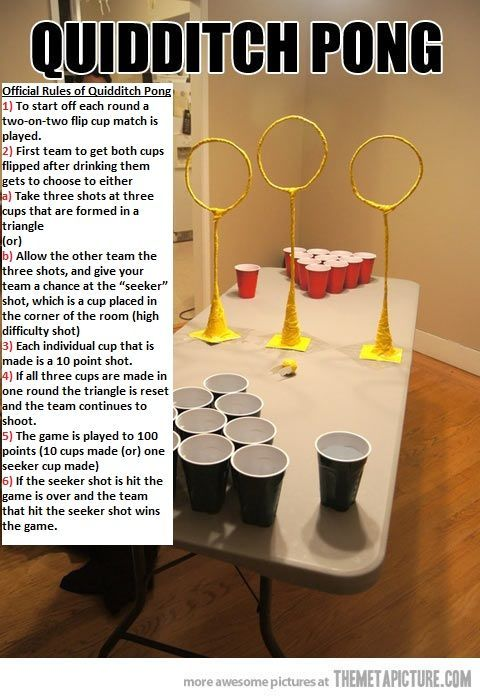 QUIDDITCH PONG, BEST DRINKING GAME.