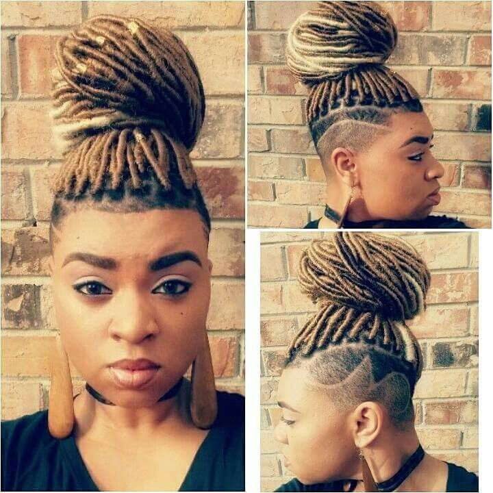Faux Locs W Shaved Sides Awesome Hair Hair Styles Braided