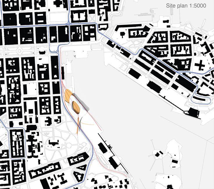 SIte plan 1:5000  CREDITS: Atelje Sotamaa with Antti Ahlava and Frippe Lindberg  Design team: Simeon Brugger, Ashish Mohite, Olga Virtanen Ramos, Eero Alho
