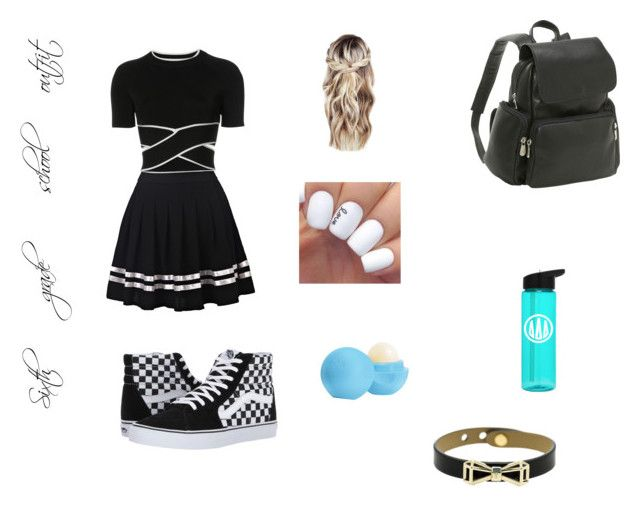 """Sixth grade school outfit"" by alissathevegangirl on Polyvore featuring Le Donne, T By Alexander Wang, Eos, Vans and Ted Baker"