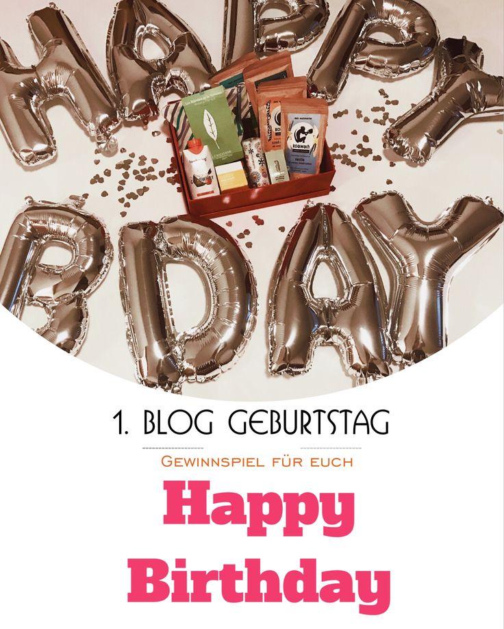 Mein Blog feiert seinen 1. Geburtstag und ich habe ein Gewinnspiel für euch zusammengestellt! Schaut unbedingt vorbei!
