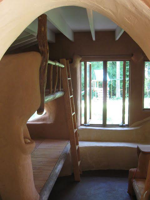Cob bunk bed {inspirational} I LOVE this!